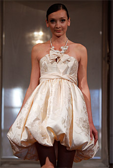 Summer 2010 Wedding Dress Trends Short Dresses.
