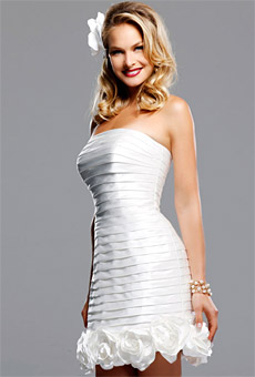Summer 2010 Wedding Dress Trends Short Dresses.2