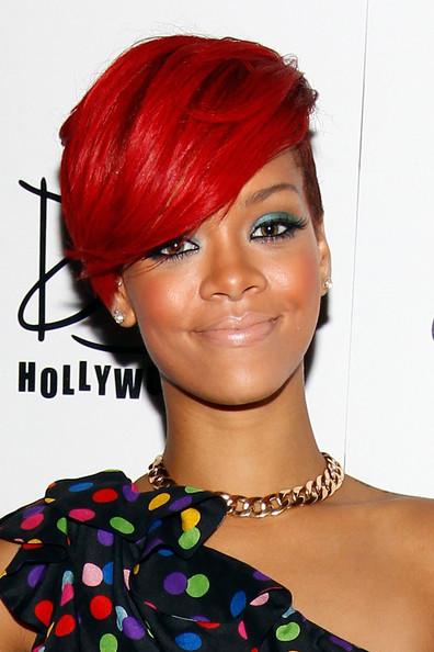Rihanna New Red Colored Hairstyles